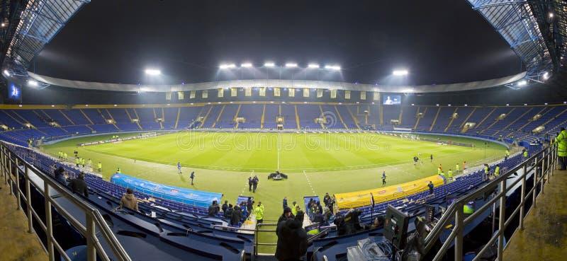 Metalist体育场全景在哈尔科夫 库存图片