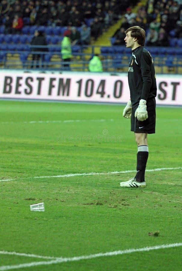 Metalist contra emparejamiento de fútbol de Metalurh Zaporizhya fotografía de archivo libre de regalías