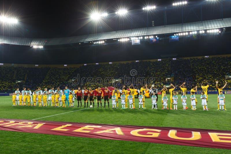 Metalist Járkov contra partido de fútbol rápido de Wien foto de archivo libre de regalías