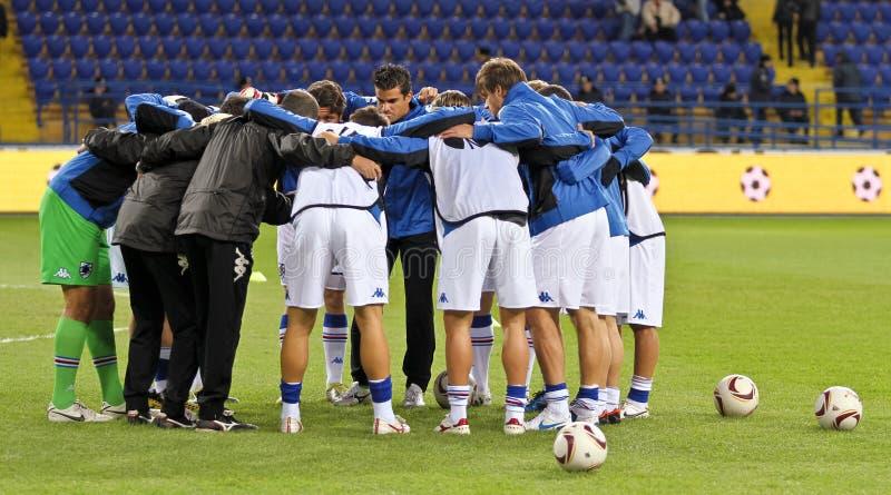 Metalist Kharkiv versus Sampdoria Genua stock foto's