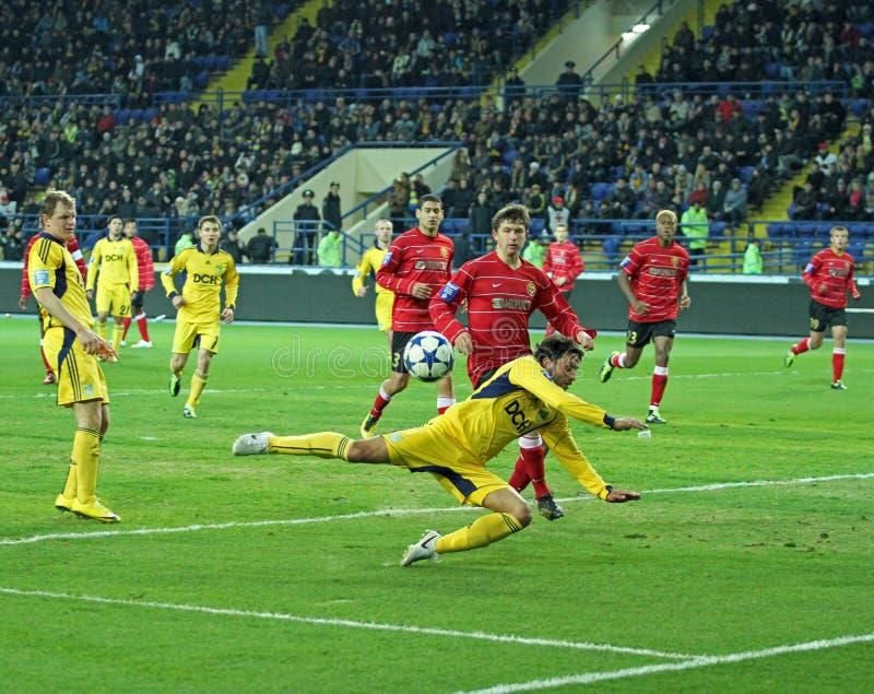 Metalist vs Metalurh mecz piłkarski Zaporizhya zdjęcia stock