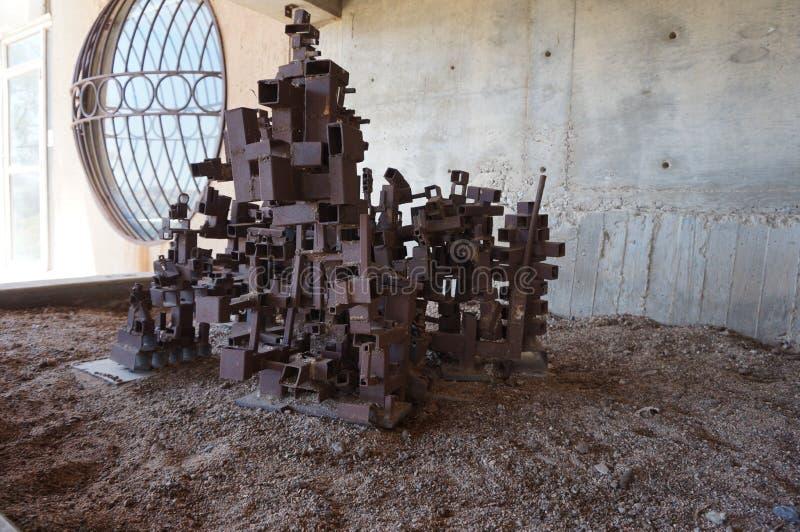 Metall Art Sculpture stockfoto