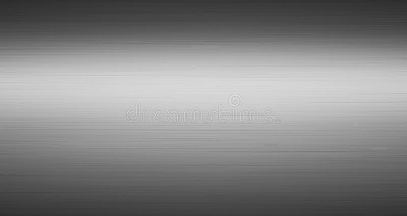 Metall borstad texturmörkerbakgrund royaltyfri illustrationer