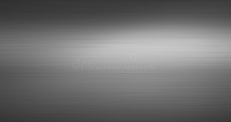 Metall borstad texturmörkerbakgrund vektor illustrationer