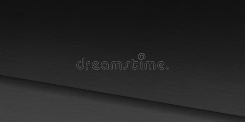 Metall borstad yttersida över mörk bakgrund vektor illustrationer
