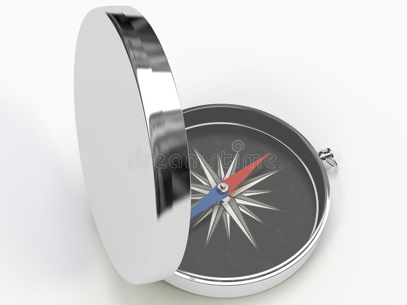 Download Metall compass stock illustration. Illustration of magnetic - 8825367