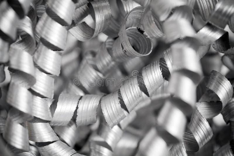 Metall, das nah herauf Foto rasiert lizenzfreie stockbilder