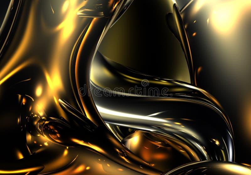 Metall de oro 01 ilustración del vector