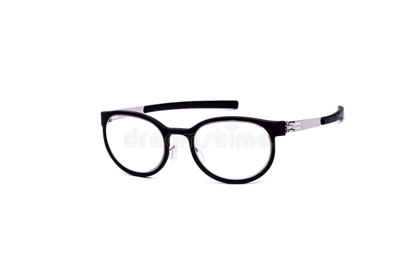 Metall-eingefaßte Gläser lokalisiert auf weißem Hintergrund lizenzfreie stockfotografie