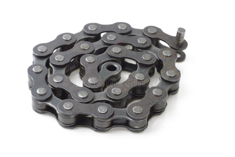 metall för chain sammanlänkning för cykel royaltyfri fotografi
