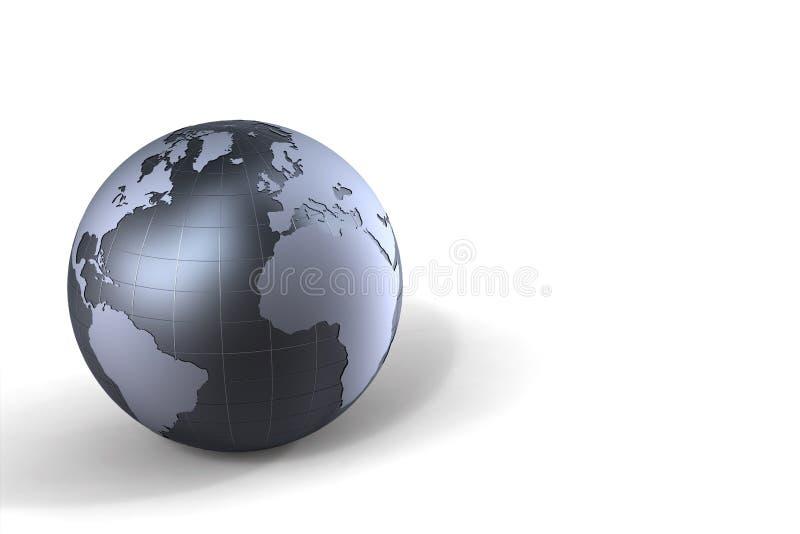 metall för jordklot 3d royaltyfri illustrationer