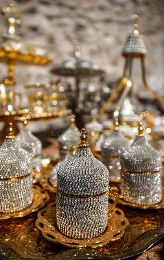 metall för kaffekopp royaltyfri bild