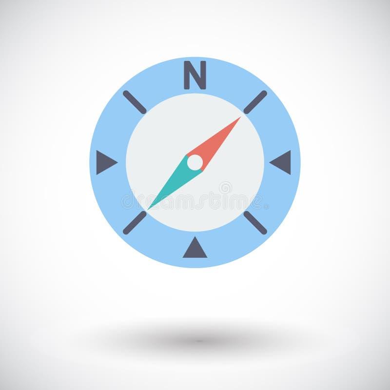 metall för symbol för green för huvuddelmittkompass vektor illustrationer