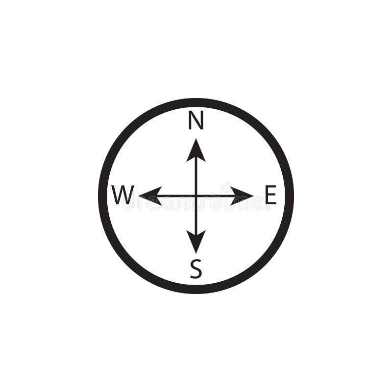 metall för symbol för green för huvuddelmittkompass Beståndsdelar av stranden semestrar symbolen Högvärdig kvalitets- grafisk des vektor illustrationer
