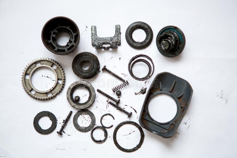 Metall führt schmutziges einzeln auf stockfotos