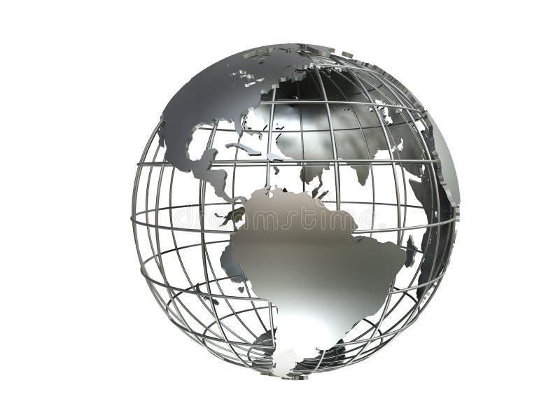 Metall globe stock image