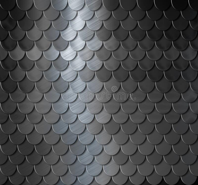 Metall graderar bakgrund vektor illustrationer