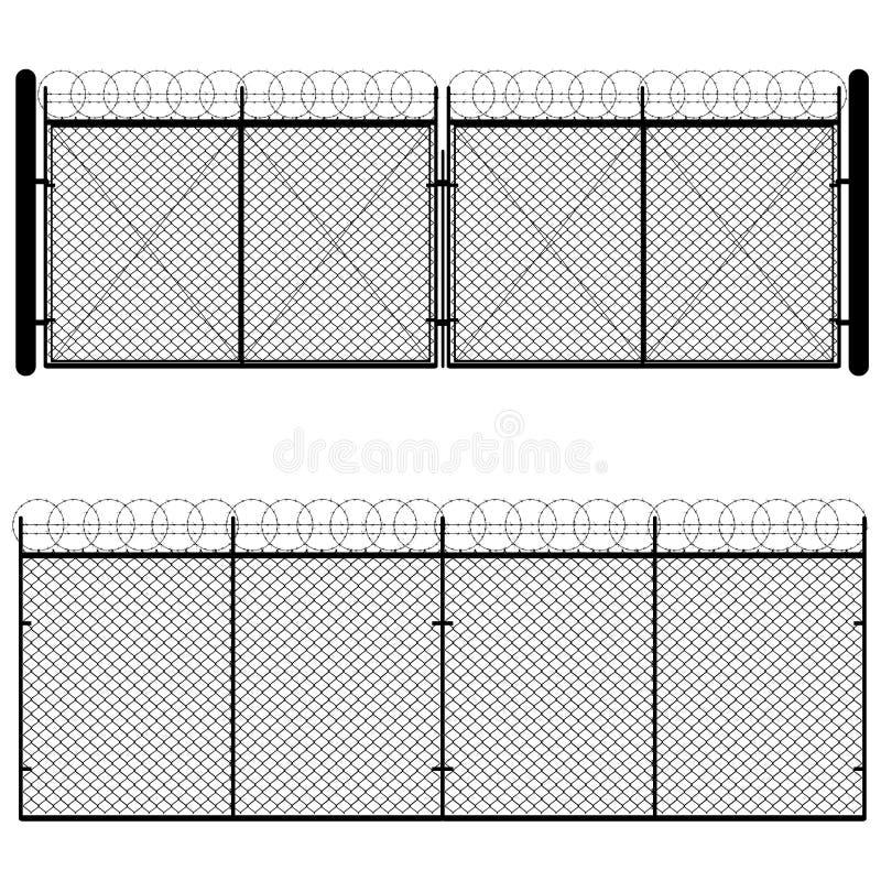 Metall Mesh Gate royaltyfri illustrationer