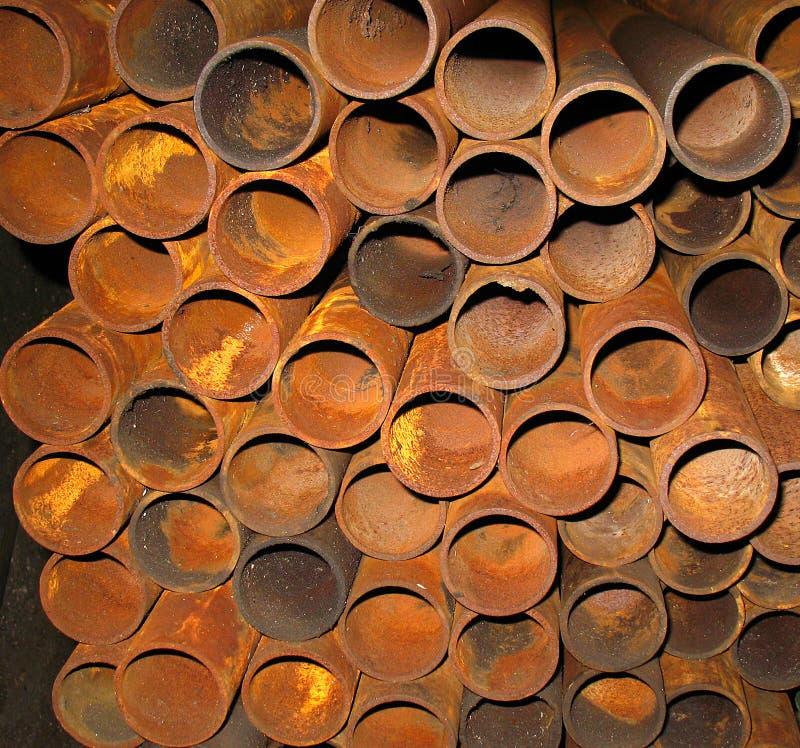 metall pipes rostigt arkivbilder