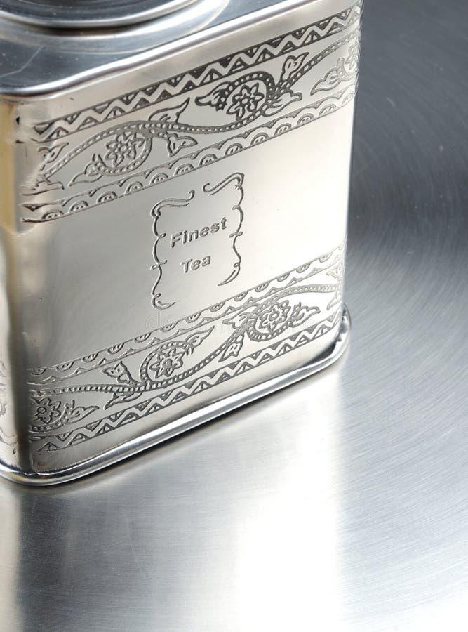 Metall pudełko z elita chinа herbatą zdjęcie royalty free
