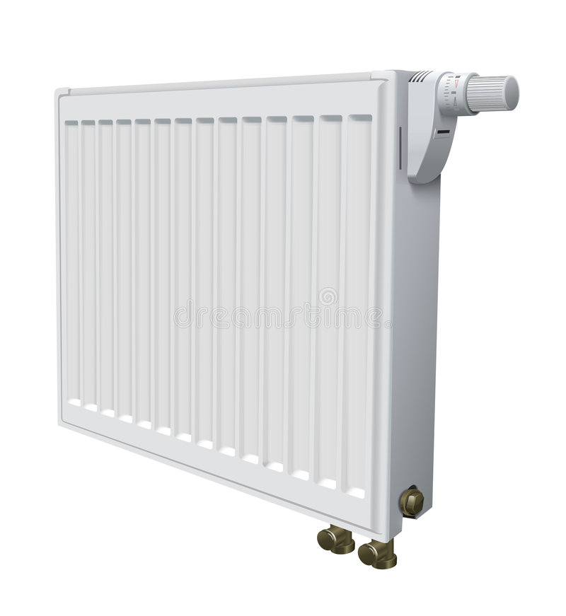 Download Metall Radiator For Panel Heating Of House Stock Illustration - Image: 5523415