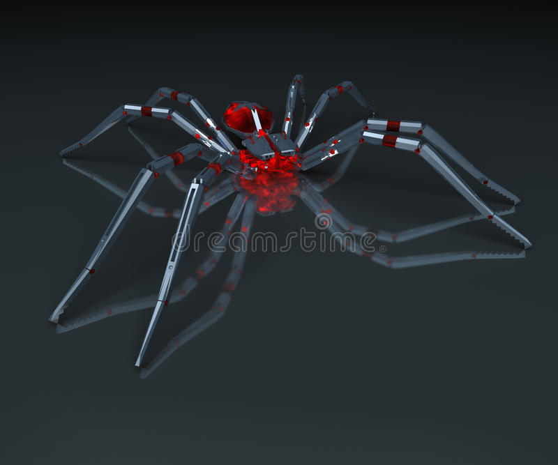 Download Metall spider. stock illustration. Image of arachnophobia - 13568715