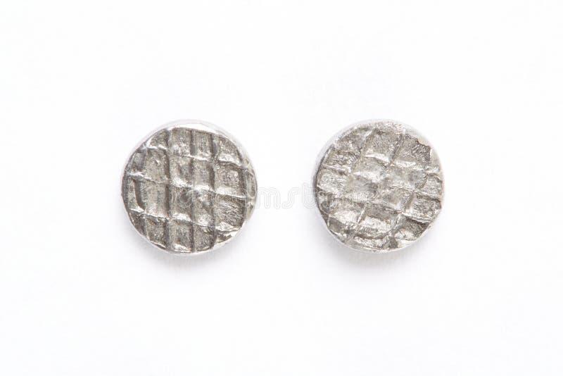 Metall spikar huvud royaltyfri bild