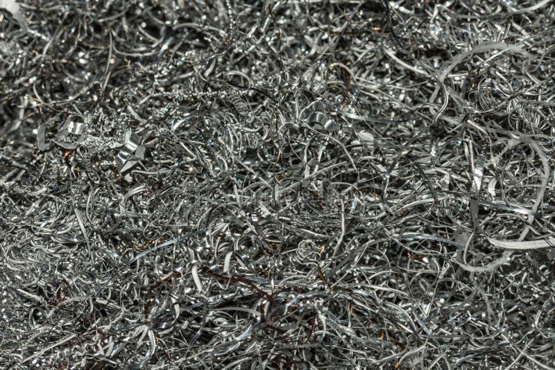 Metall splittrar närbild royaltyfria bilder