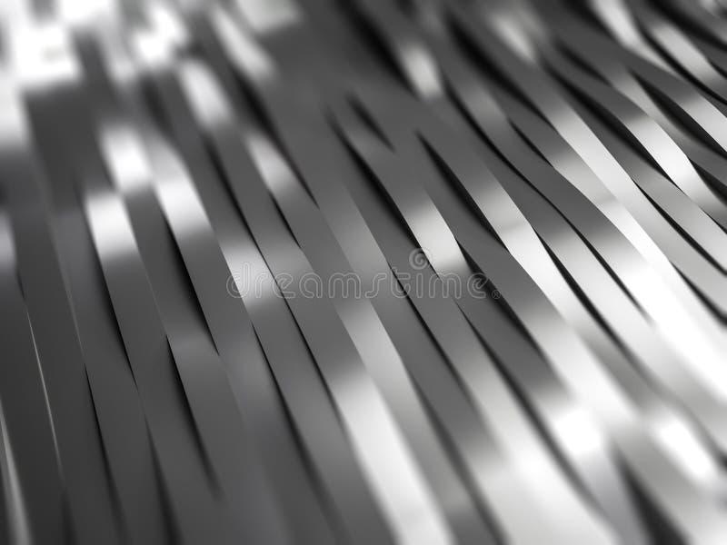Metall streift Hintergrund stockfoto