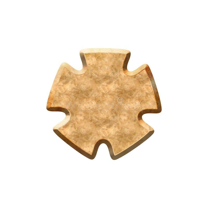 Metall texturerat emblem stock illustrationer