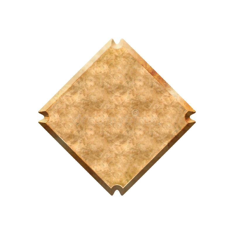 Metall texturerat emblem vektor illustrationer