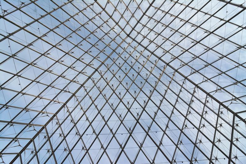 Metall und Glasaufbau stockbild