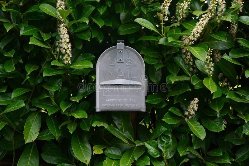 Metall-US-Briefkasten stockbild