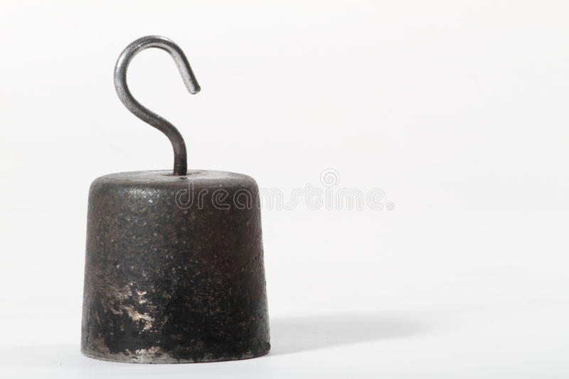 Metall weights. Isolated metall weights, white background royalty free stock photo