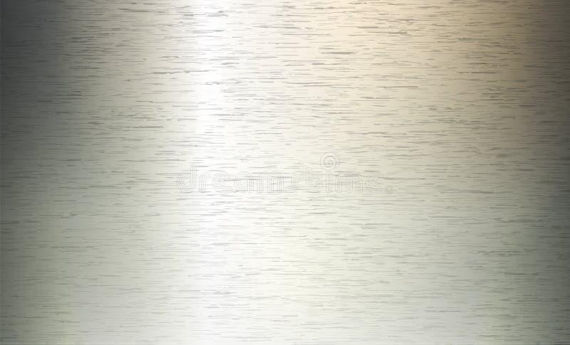Metallabstrakter Technologie-Hintergrund Aluminium mit Polier-, gebürsteter Beschaffenheit, Chrom, Silber, Stahl, für Design lizenzfreie abbildung