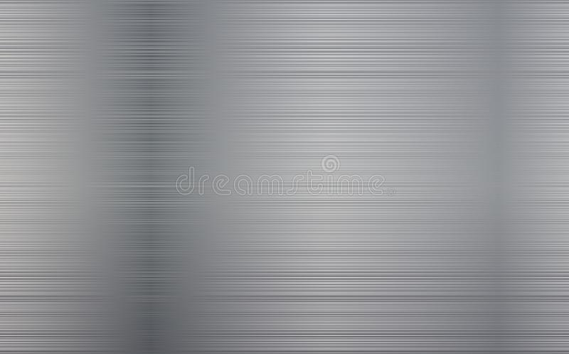Metallabstrakter Technologie-Hintergrund Polier-, gebürstete Beschaffenheit Chrome, Silber, Stahl, Aluminium vektor abbildung