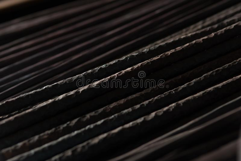 Metallarmatur för byggnaden av hus arkivfoto