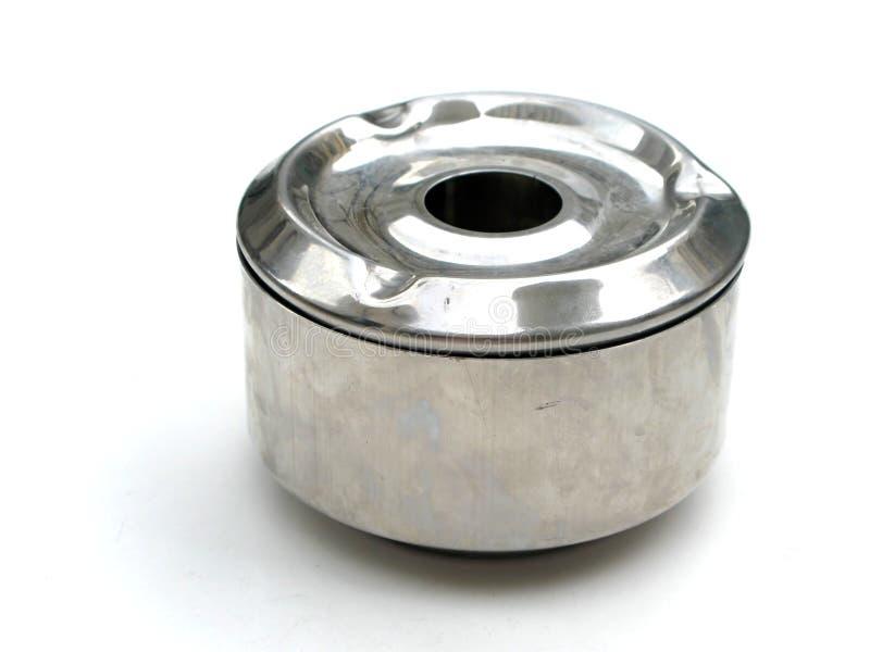 Metallaschenbecher lizenzfreies stockbild