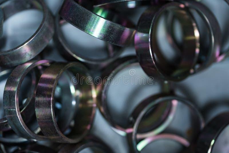 Metallbüsche Abstrakter industrieller Hintergrund stockbild