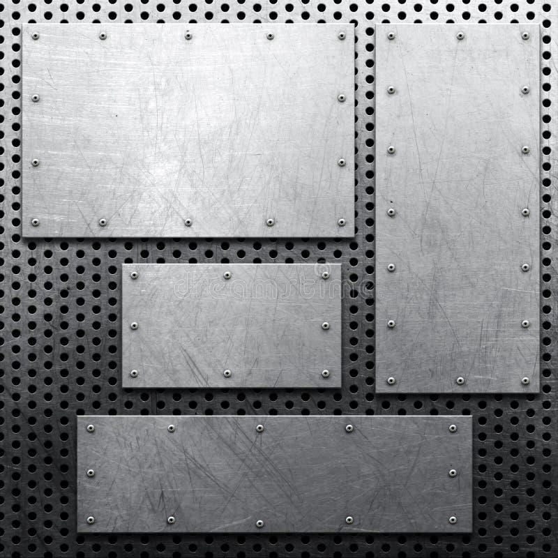 Metallbakgrund royaltyfri bild