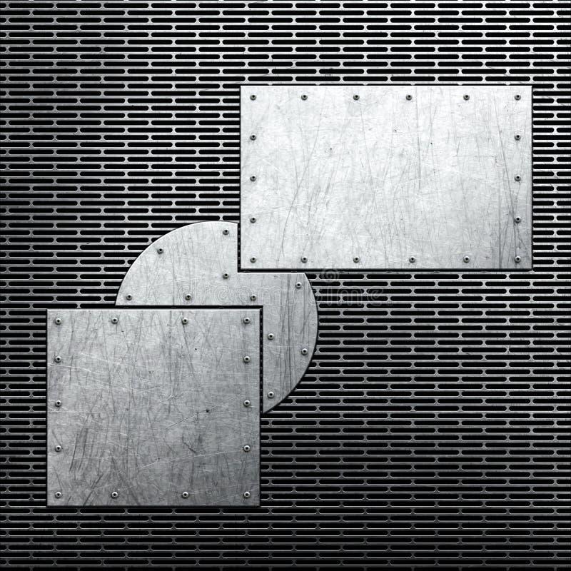 Metallbakgrund stock illustrationer