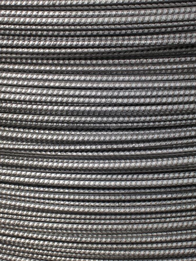 Metallbakgrund - foto för materiel för ståltrådkabel royaltyfri foto
