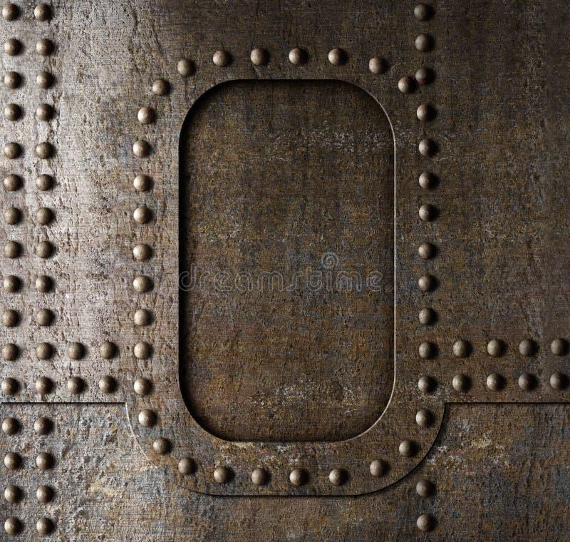 Metallbakgrund med nitar arkivfoton
