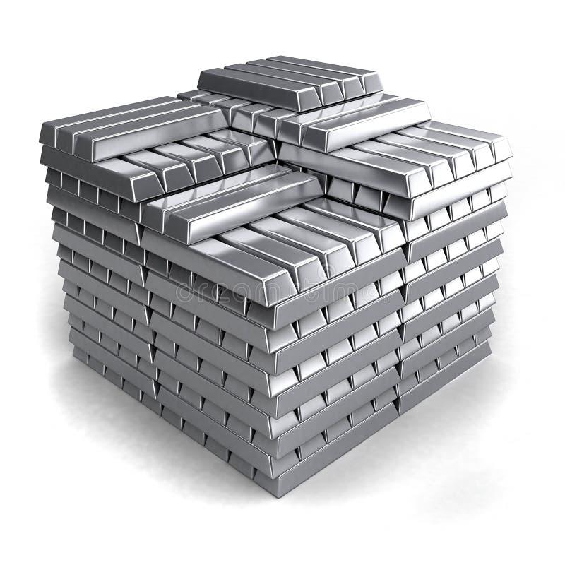 Metallbarren lizenzfreie abbildung