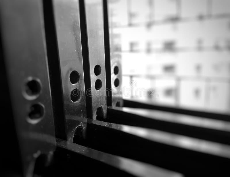 Metallbau des Fensters stockfotografie