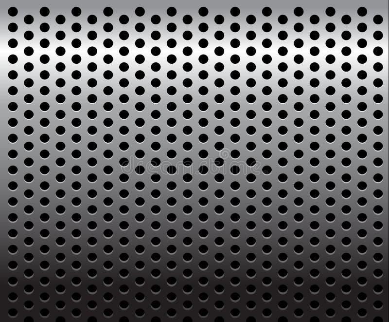 Metallbeschaffenheit/-muster vektor abbildung