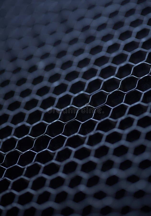 Metallbeschaffenheitsbienenwaben stockbilder