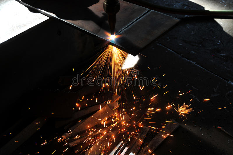 Metallblatt-Gas-Ausschnitt Stockfotos