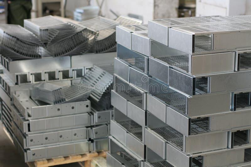 Metallblattprodukt stockbild