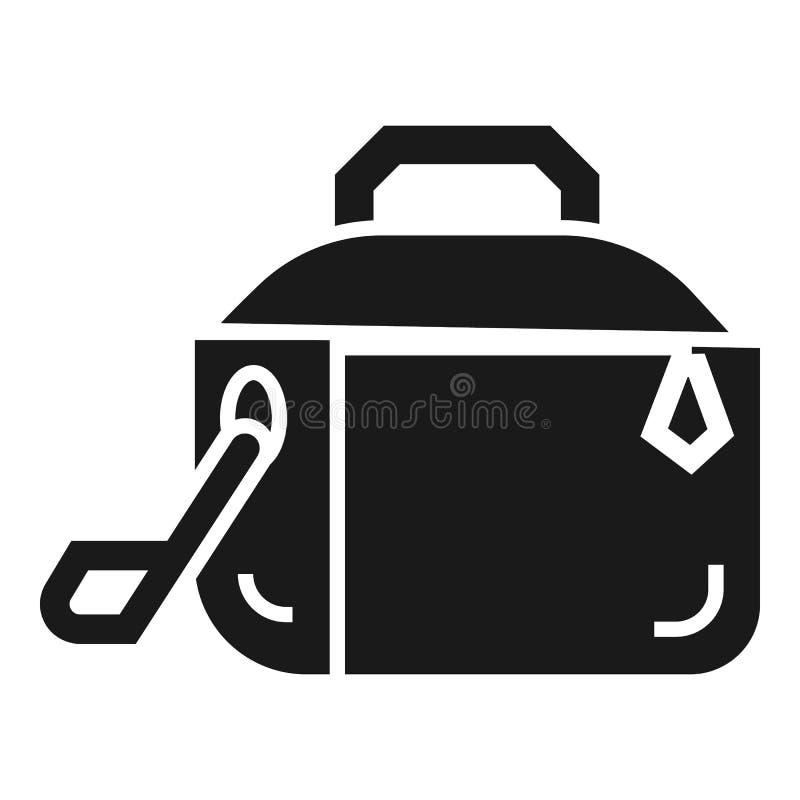 Metallbrotdoseikone, einfache Art stock abbildung